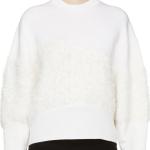 3.1 Phillip Lim Ivory Angora Panel Sweater