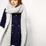 Shop ASOS Oversized Fluffy Scarf