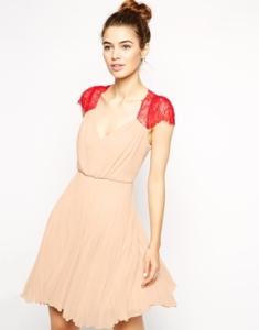 ASOS Lace Insert Mini Dress