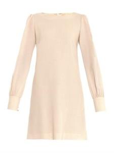 Goat wool crepe dress