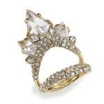 Alexis Bittar Miss Havisham Jagged Crystal Cluster Multi-Row Ring