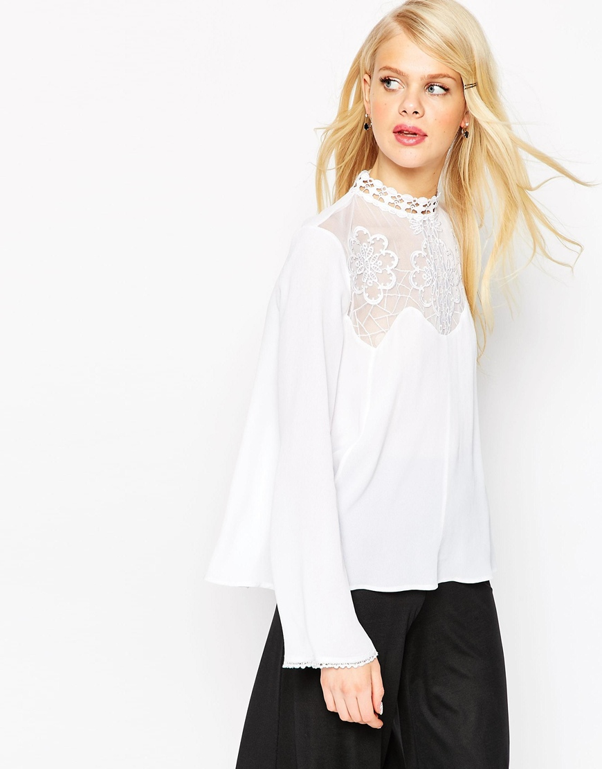 Asos embroidered blouse