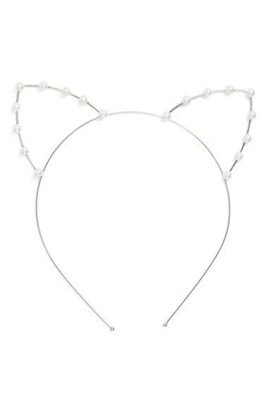 Cara Faux Pearl Cat Ear Headband