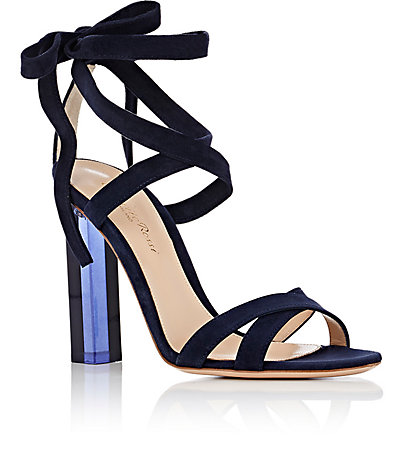 gianvito rossi Suede Ankle-Tie Sandals