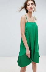 green dress asos