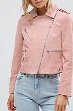 suede jacket pink